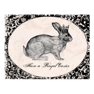 postal del conejito de pascua del vintage