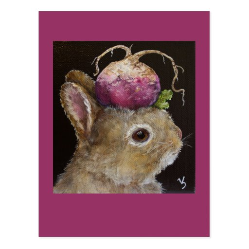 postal del conejito del bebé del nabo