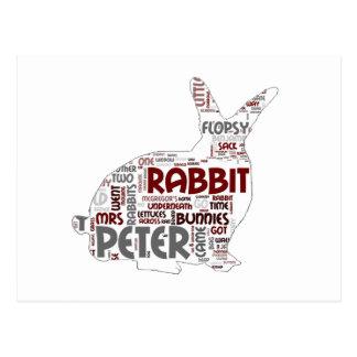 Postal del conejo de conejito de pascua
