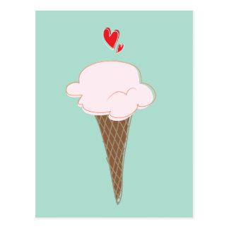 Postal del cono de helado
