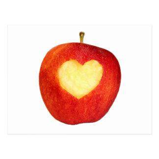 Postal del corazón de Apple