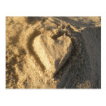 Postal del corazón de la arena