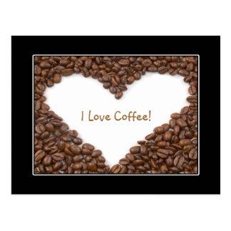 Postal del corazón del café