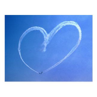 Postal del corazón del cielo