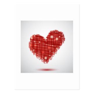 Postal del corazón del garabato