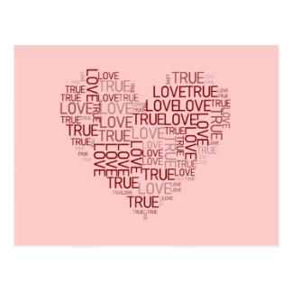 Postal del corazón y del amor