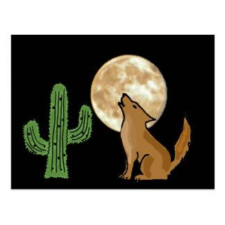 Postal del coyote del grito del AU