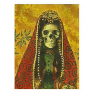 Postal del cráneo de la bruja de la muerte