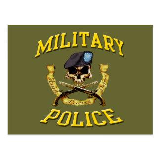 Postal del cráneo de la policía militar