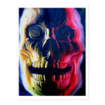 postal del cráneo del aceite