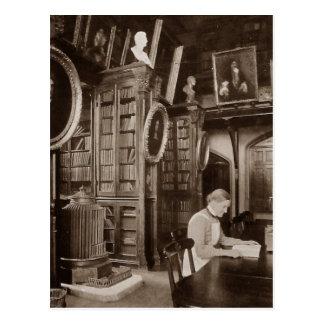 Postal del cuarto de lectura
