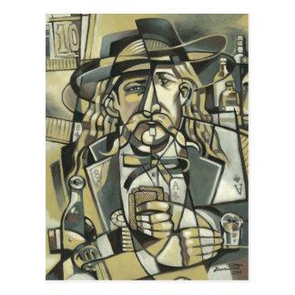 Postal del cubismo de Wild Bill Hickok