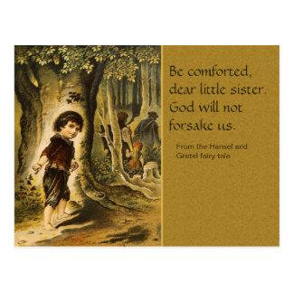 Postal del cuento de hadas de Hansel y de Gretel C