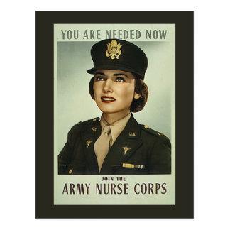 Postal del cuerpo de enfermera del vintage