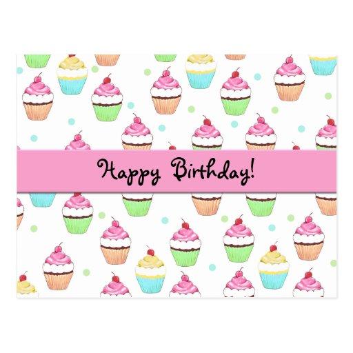 Postal del cumpleaños de la magdalena