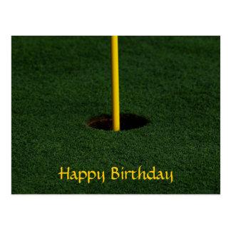 Postal del cumpleaños del golf