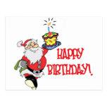 Postal del cumpleaños del navidad