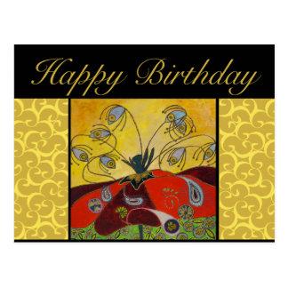 postal del cumpleaños - despiértese en la pintura