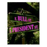 Postal del ~ de Bull y de presidente Street/invita