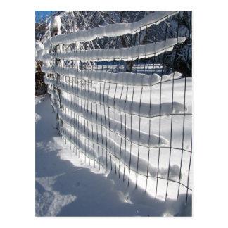 Postal del ~ de la cerca de la nieve