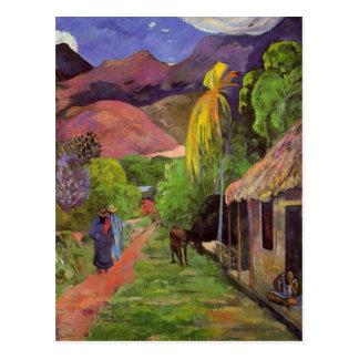 """""""Postal del de Tahití"""" - Paul Gauguin de la ruda"""