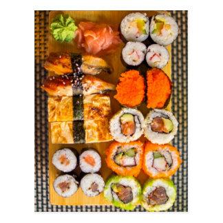 Postal del dechado del sushi