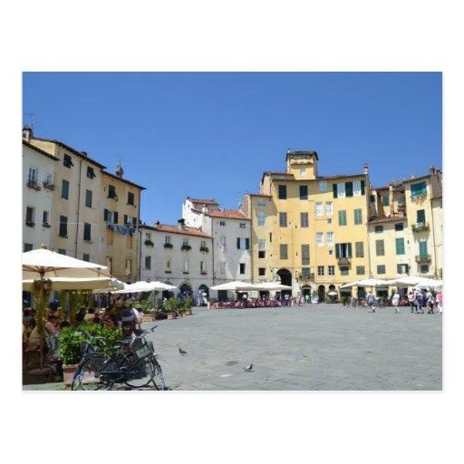 Postal del dell'Anfiteatro de la plaza en Lucca, I