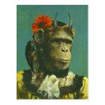 Postal del demonio del mono