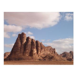 Postal del desierto del ron del lecho de un río se