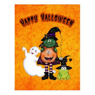 Postal del día de fiesta de Halloween