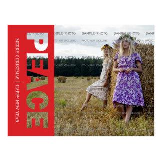 Postal del día de fiesta de la paz