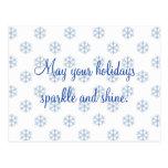 Postal del día de fiesta del copo de nieve