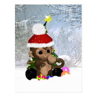 Postal del día de fiesta del mono - postal linda d