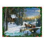 Postal del día de fiesta del navidad