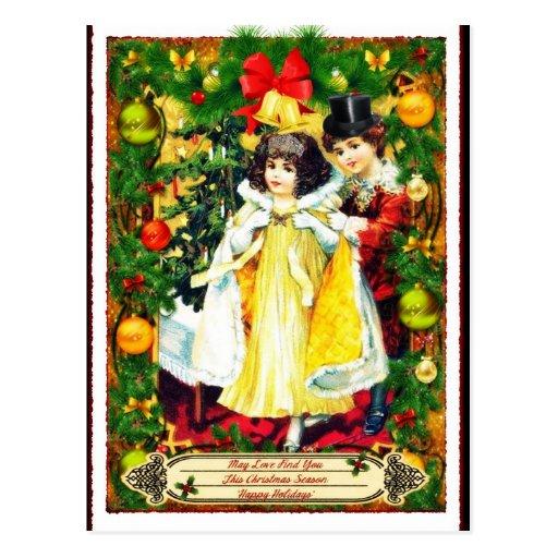Postal del día de fiesta del navidad de los pares