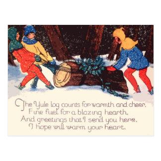 Postal del día de fiesta del navidad del vintage