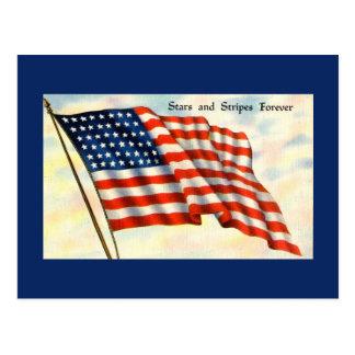 Postal del Día de la Independencia de la bandera