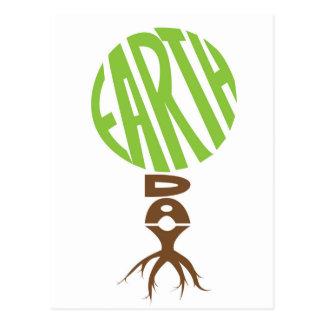 Postal del Día de la Tierra, forma del árbol