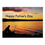 Postal del día de padre de la pesca