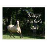Postal del día de padre del caballo del ante
