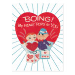 Postal del día de San Valentín del vintage