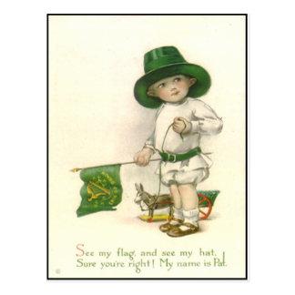 Postal del día de St Patrick del irlandés del vint