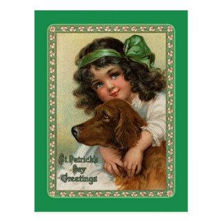 Postal del día de St Patrick del vintage