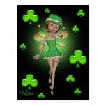 Postal del día de St Patrick - duendecillo irlandé