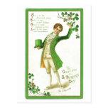 Postal del día del ST. Patricks del vintage