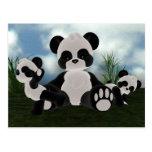 Postal del día soleado de Bearz de la panda