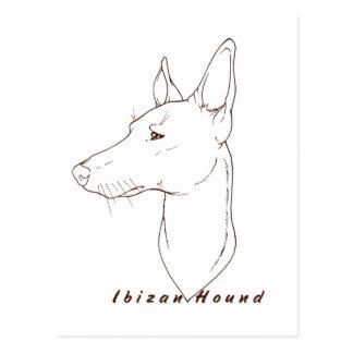 Postal del dibujo del perro de Ibizan