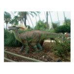 Postal del dinosaurio de Parasaurolophus