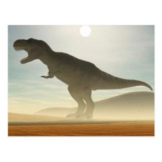Postal del dinosaurio del rugido