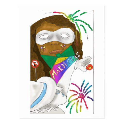 Postal del diseño 2 del carnaval